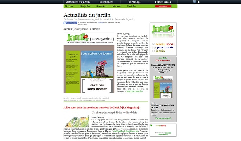 Jardi - un site hébergé par Made in Web