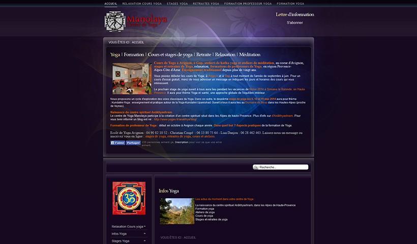 Manolaya - un site suivi par Made in Web