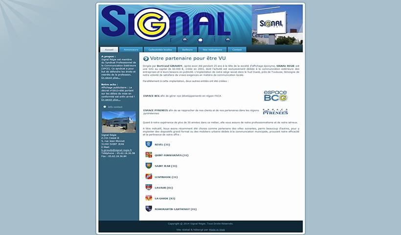Signal Régie - Un site réalisé et hébergé par Made in Web