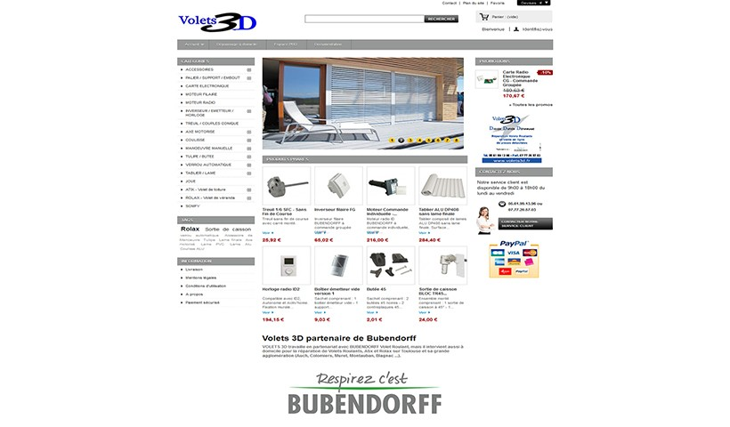 Volets 3D - un site réalisé par Made in Web