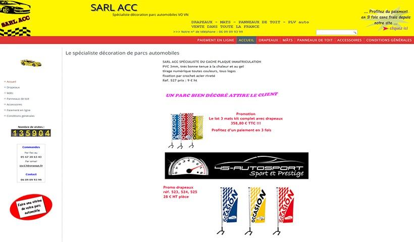 SARL ACC - Un site réalisé et hébergé par Made in Web