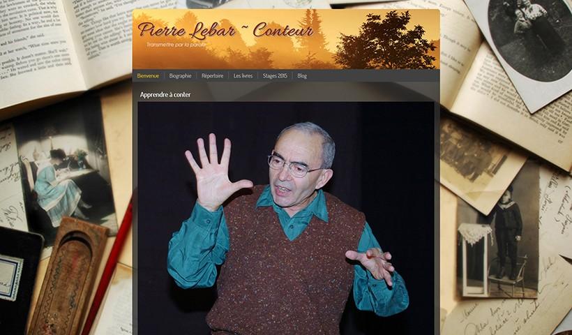 Pierre Lebar Conteur - Un site réalisé et hébergé par Made in Web