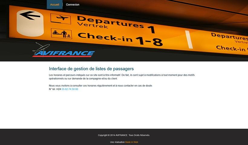 PNL AVI France - Un site réalisé et hébergé par Made in Web