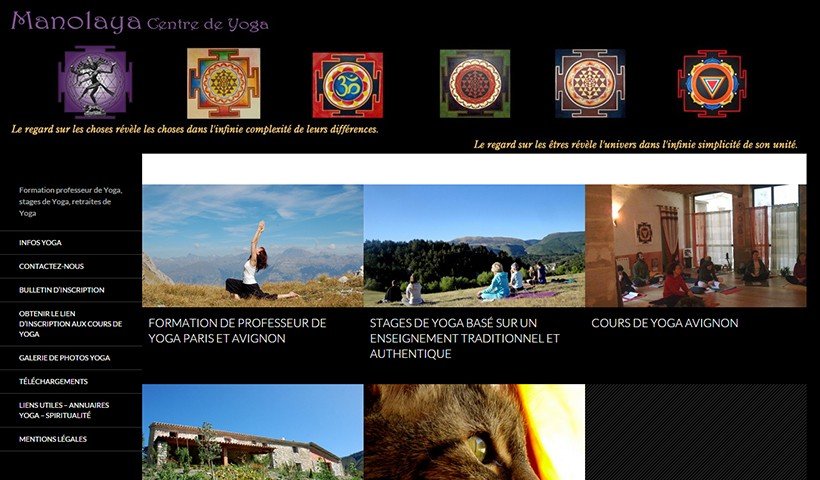 Yoga Manolaya - Un site suivi par Made in Web