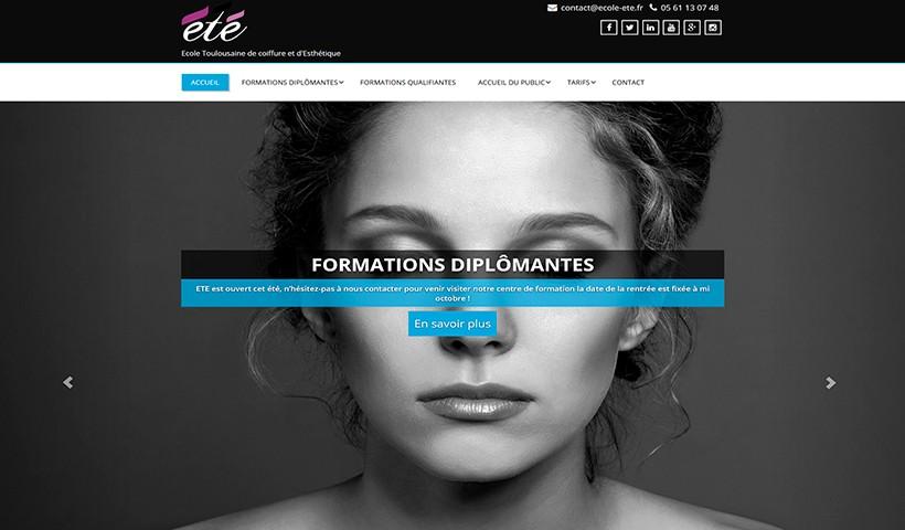 Ecole ETE - Un site réalisé par Made in Web