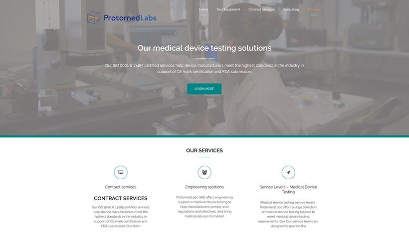 Protomed Labs - Un site réalisé par Made in Web